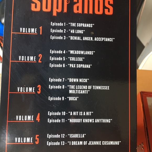 Vhs series of Sopranos